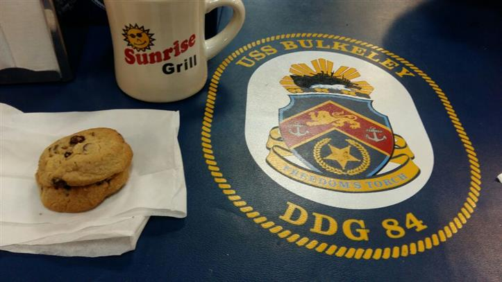 Sunrise grill mug and cookies
