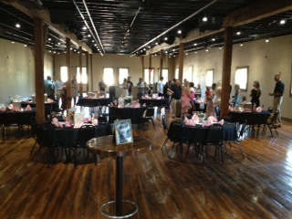 photo of the whole view of a private event inside the old lumber company grill and bar