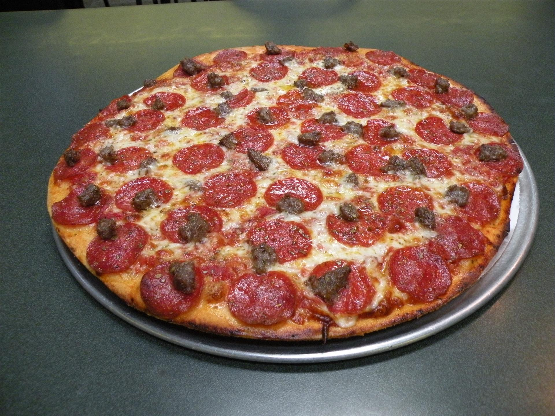 Pepperoni and Sausage Pizza 2