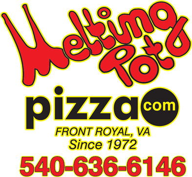 Melting Pot Pizza logo with phone png file