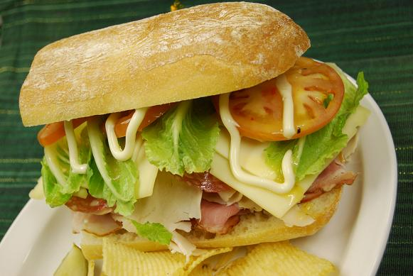 italian sub with chips