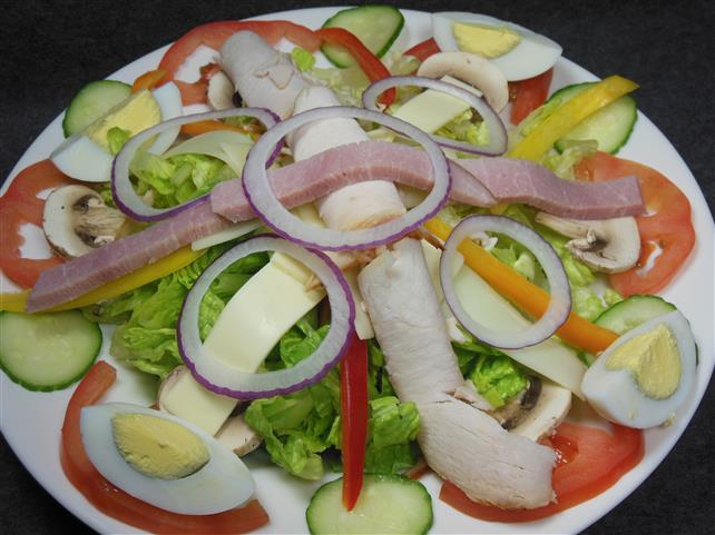 salad with vegetales