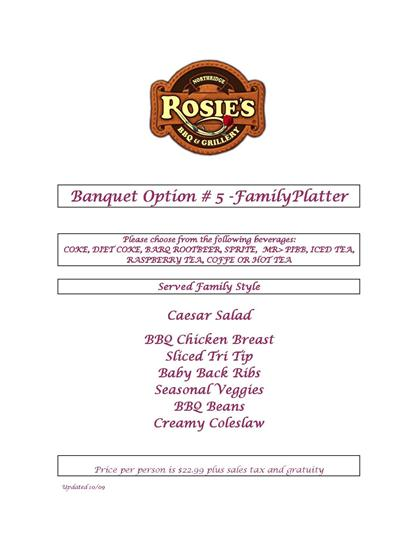 ---- Banquet Option #5 (large)