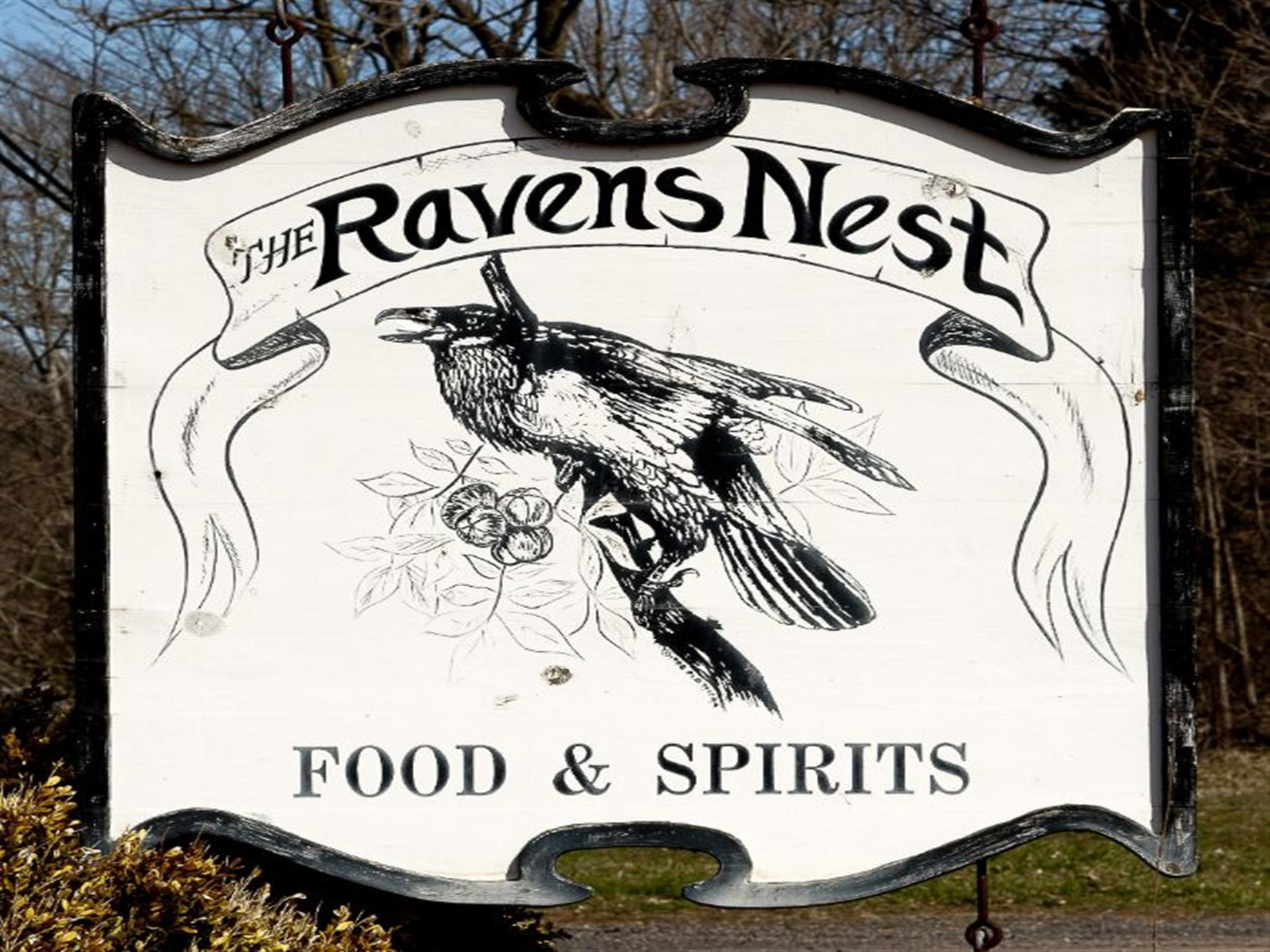 The Raven's Nest outdoor signage