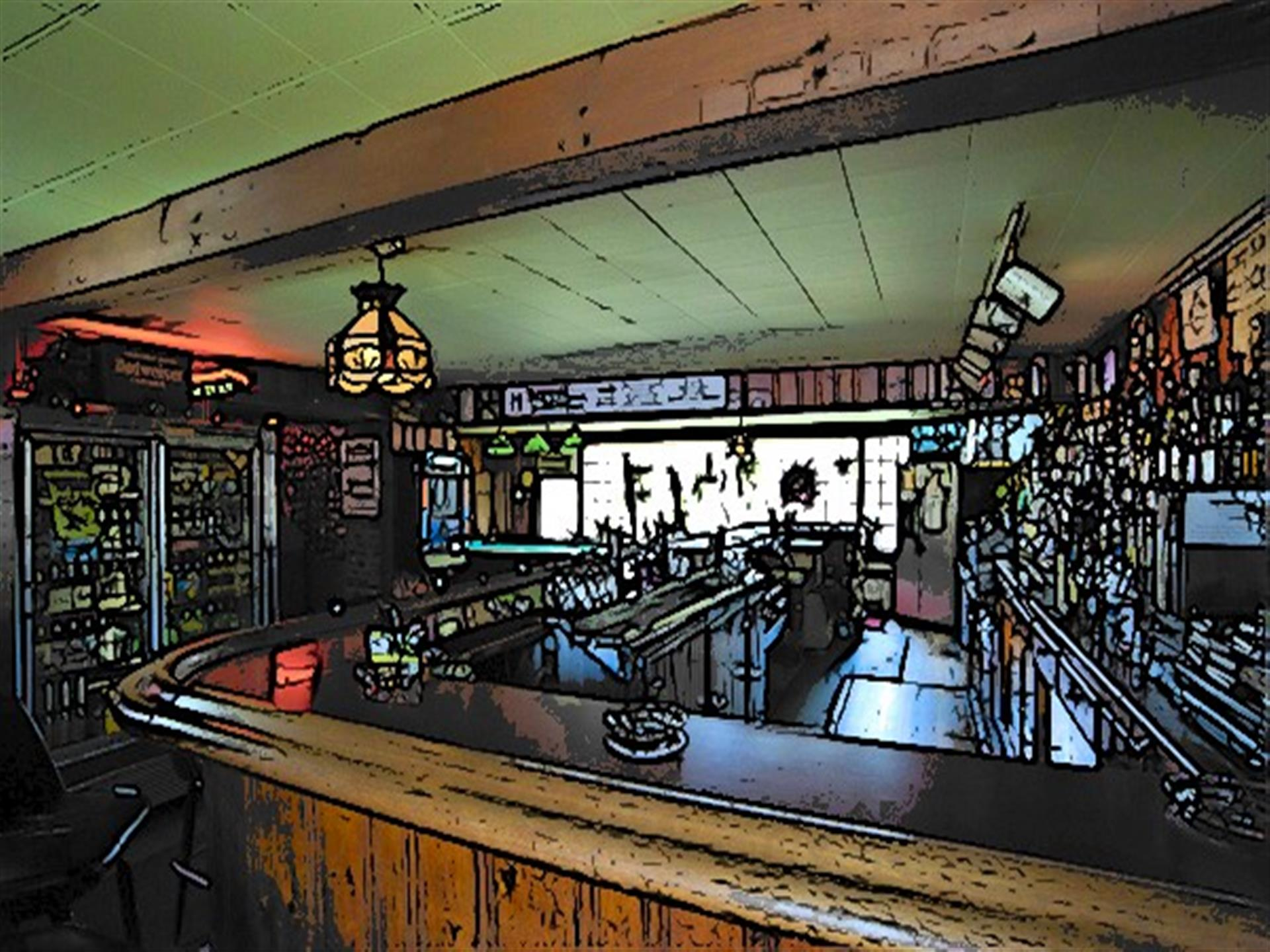 interior bar showcasing the eatign area