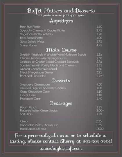 Catered Event Menu Pg2
