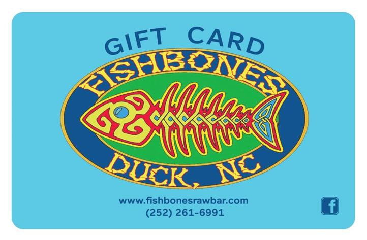 gift card fishbones duck, nc