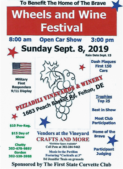 Wheels and Wine Festival | 9/8/2019 | 8am-3pm