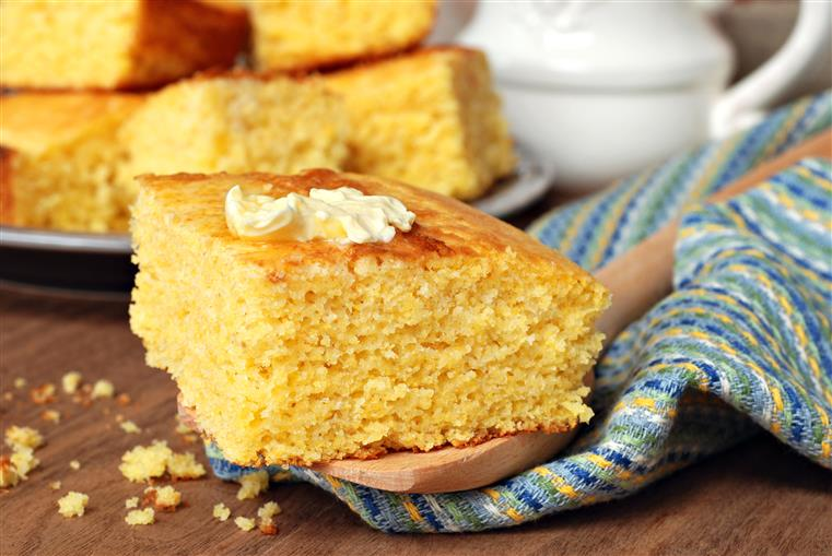Cornbread with butter.