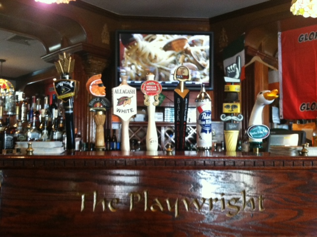 taps on display with the playwright logo shown