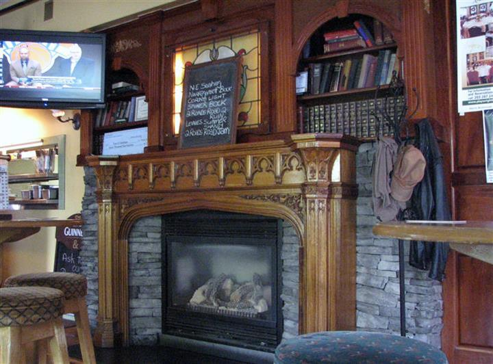 fireplace area