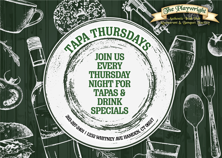 Tapa Thursdays - join us every thursday night for tapas & drink specials