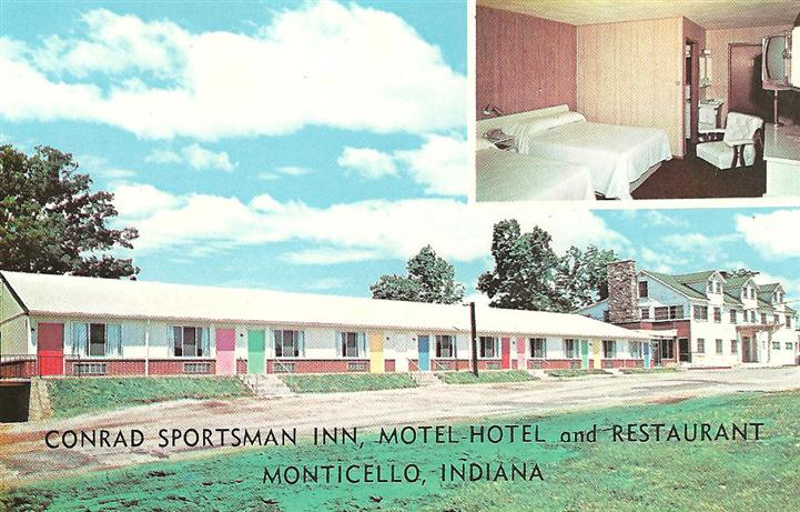 Vintage photo of motels