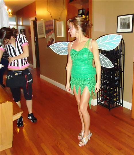 Lady in a Tinkerbell costume