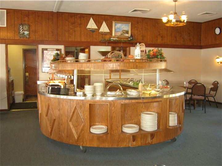 Buffet area of restaurant