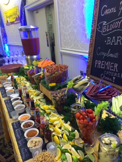 create your own bloody mary bar picture from the side and close up
