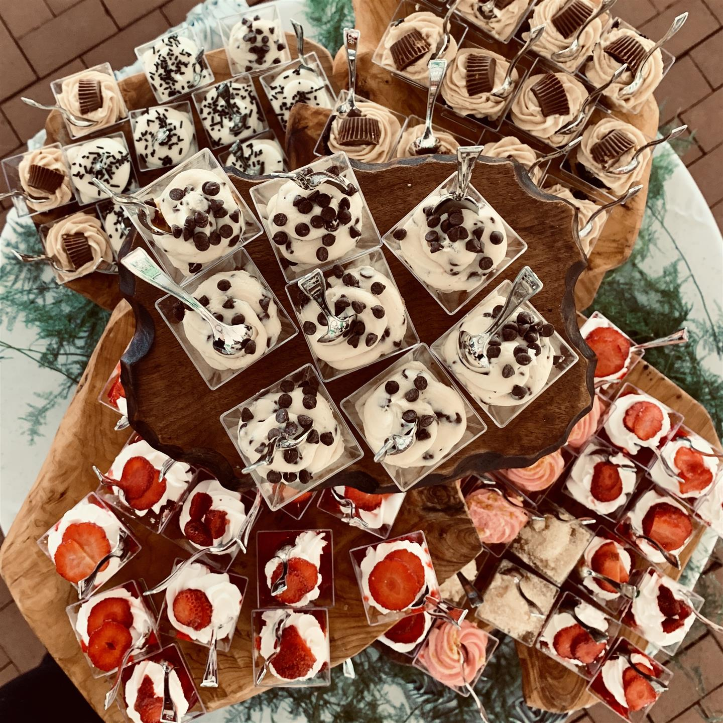 various cake shooters including strawberry and reeces