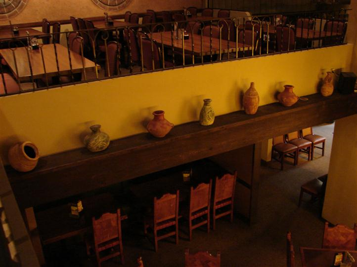 interior of tico's showcasing counters and stools