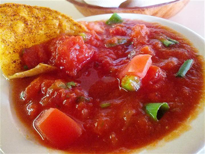 Mild Salsa and Chips in a bowl