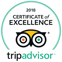 2018 Certificate of Excellence - Trip Advisor