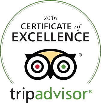 2016 Certificate of Excellence - Trip Advisor