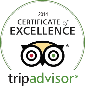 2014 Certificate of Excellence - Trip Advisor