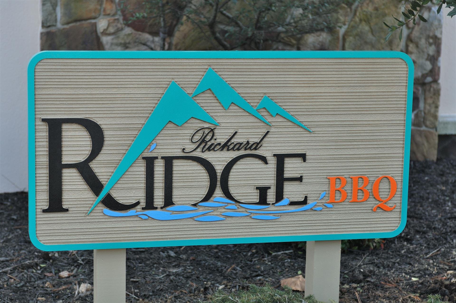 Rickard ridge bbq sign