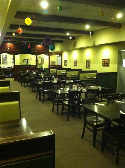 Dining area of the establishment