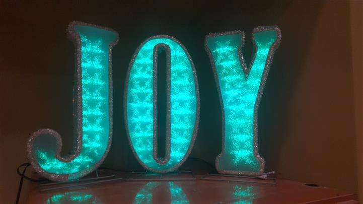 """JOY"" Decoration sign"
