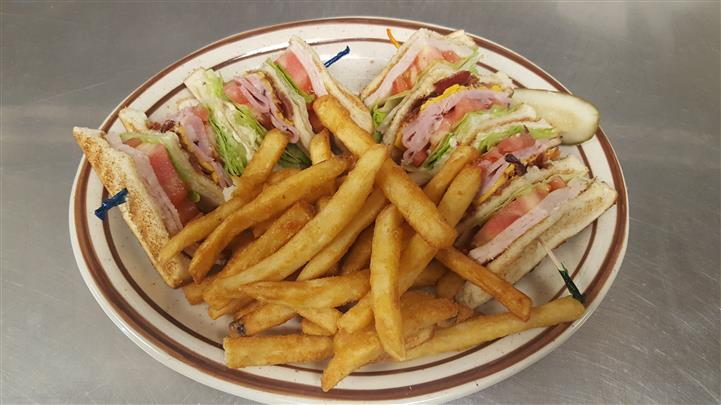 French fries served with sandwiches