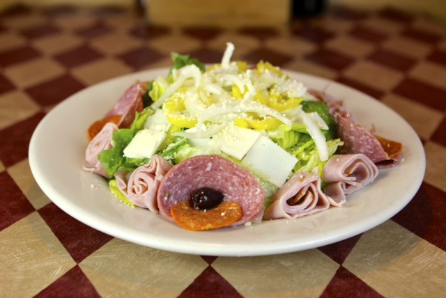 an antipasto salad