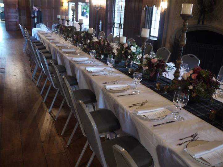 long decorated table