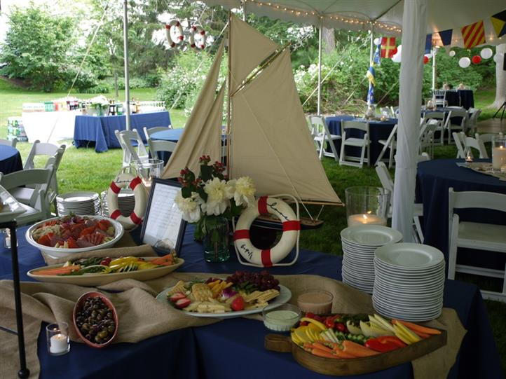 decorated catering table