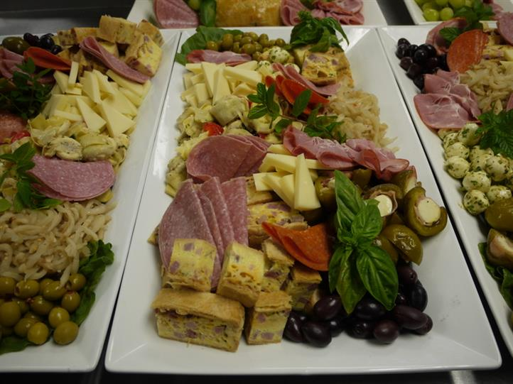 various food on a platter