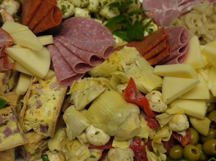 various meat and cheese