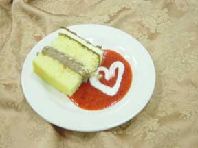 piece of cake on a plate