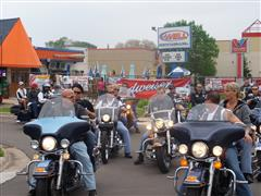 Group of people on motorcycles