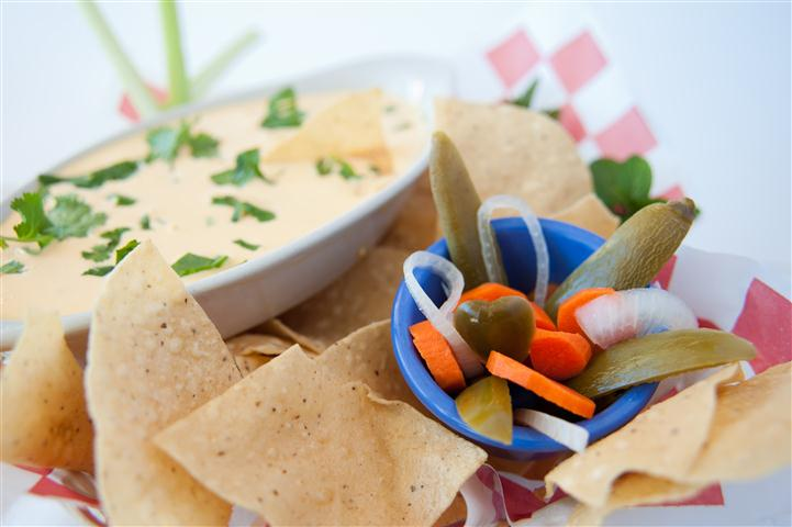 carrots, celery with dip