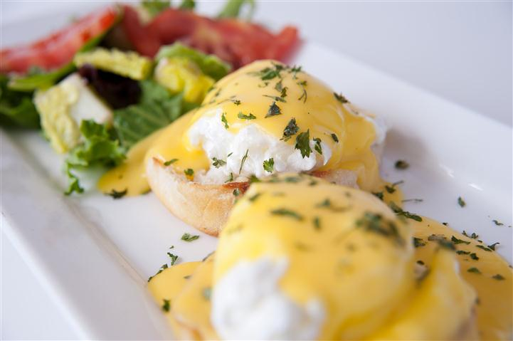 eggs with a salad