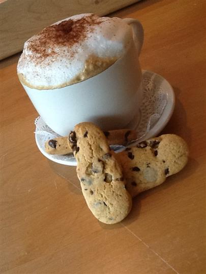 coffee with cookies for dipping