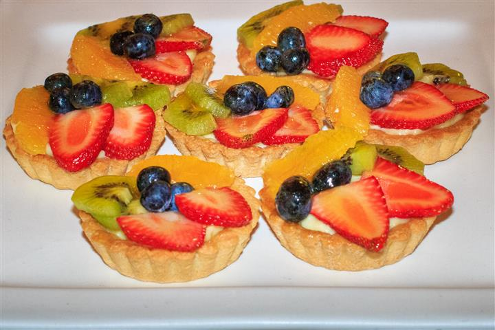 tarts topped with fruit