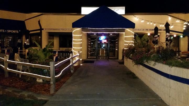 outside entrance with awning