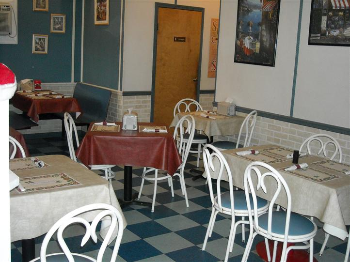 Dining area in Little Italy