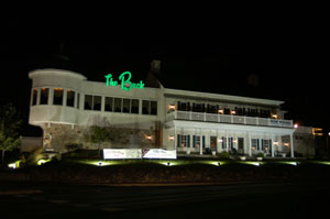 outside view of the buck hotel at night