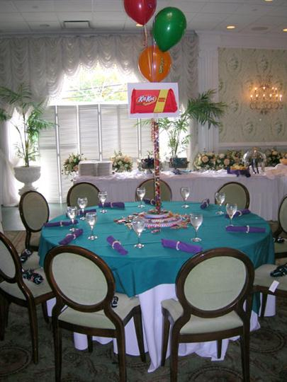 table decorated for a party