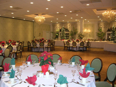large decorated banquet room