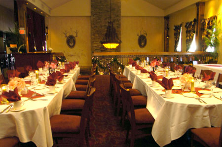 long decorated tables