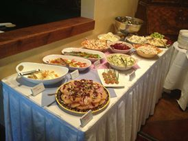 large catering table