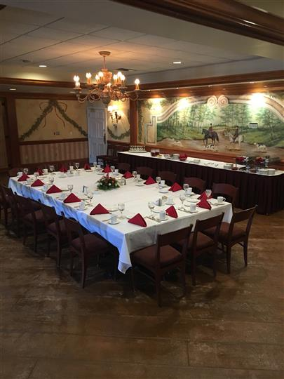 large decorated table