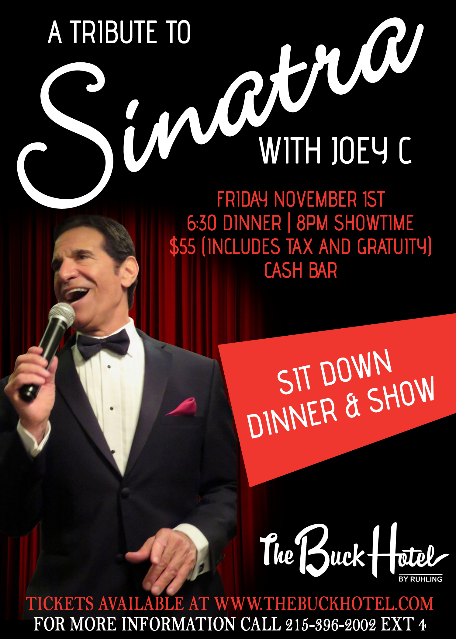 a tribute to sinatra friday november 1st 630 dinner